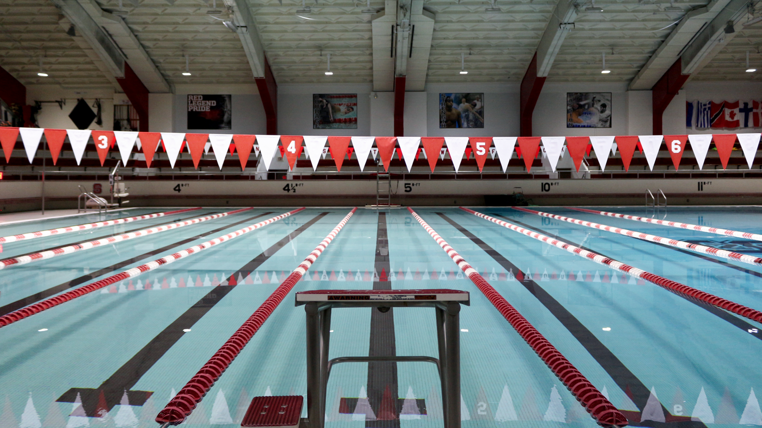 Student swimming in the Casey Aquatic Center.