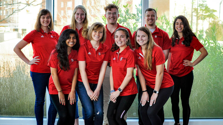 NC State students as wellness assistants.