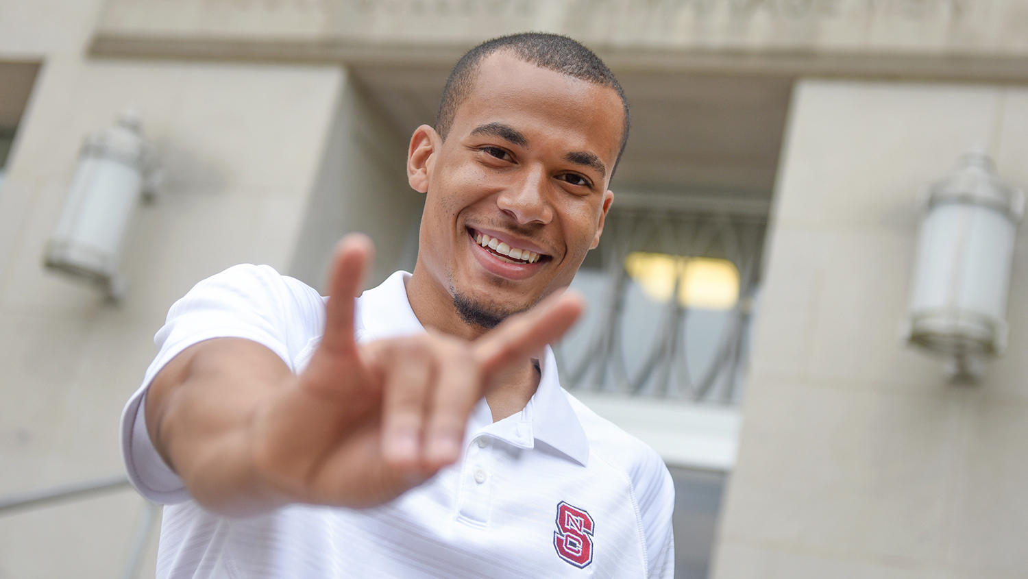 NC State Student on campus