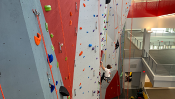 Student on Climbing Center