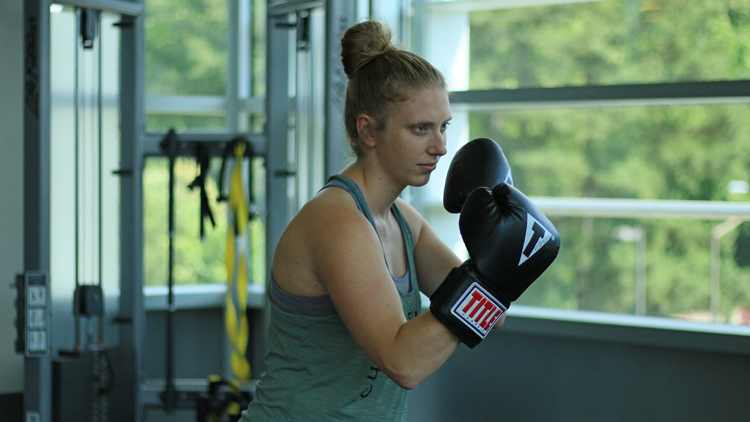 Boxing at the Wellness and Recreation Center.