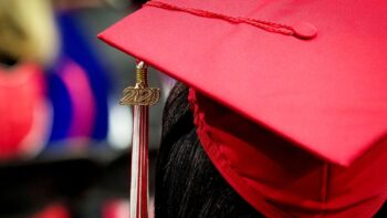 close-up image of 2020 graduate's mortarboard