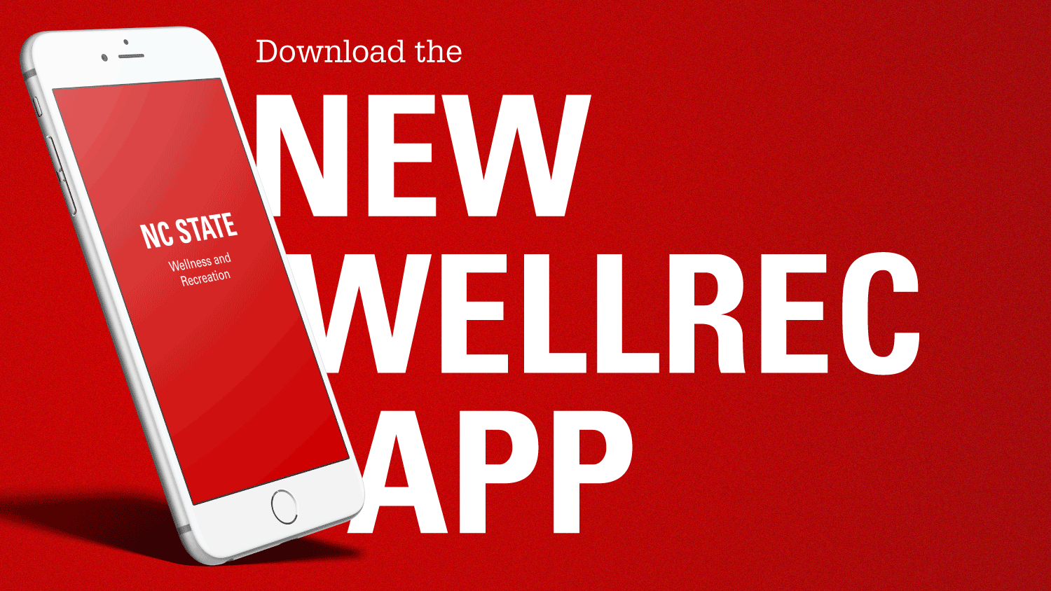Ad for NC State WellRec app.