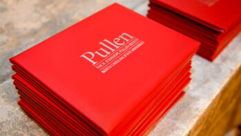 Pullen Society certificates were presented to new members during the 2021 induction event.